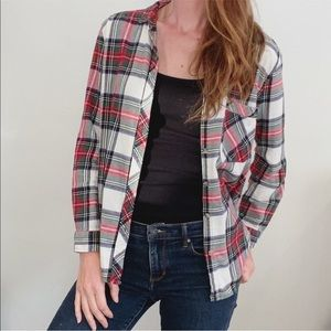 BDG urban outfitters flannel red white